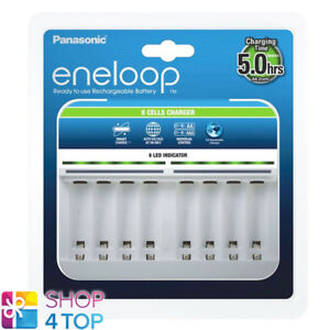 Details About Panasonic Eneloop 8 Cells Charger Bq Cc63 For Aaa Aa Batteries Auto Voltage New