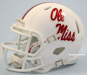 MISSISSIPPI-OLE-MISS-REBELS-WHITE-ALTERNATE-Riddell-Speed-Mini-Helmet