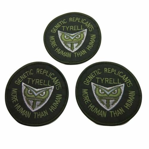 Blade Runner Movie Tyrell Genetic More Human Logo Embroidered Patch Set of 3