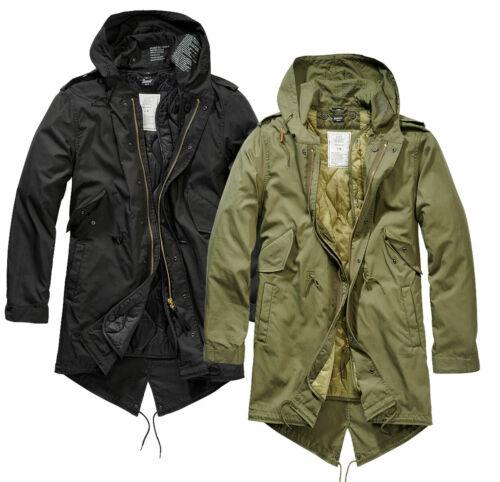 Brandit Men/'s Winter Jacket Parka M51 Hood Army Field US Shell Fishtail New