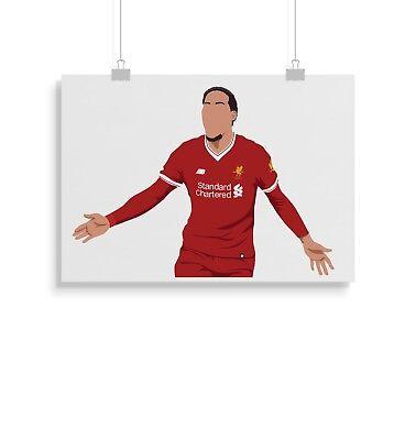 A3 Size Football Wall Poster Print LIVERPOOL FC 297mm x 420mm F.C Virgil Van Dijk