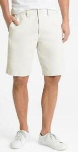 NEW-NWT-Mens-GAP-10-034-Lived-In-Chino-Stretch-Flat-Front-Khaki-Twill-Shorts-44