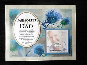 Image Is Loading Memories Of Dad New Memorial Mount With Loving