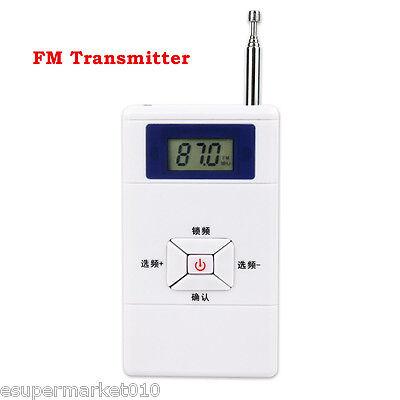 White FM Transmitter 70MHz-108MHz Personal Radio Station Stereo Audio Converter