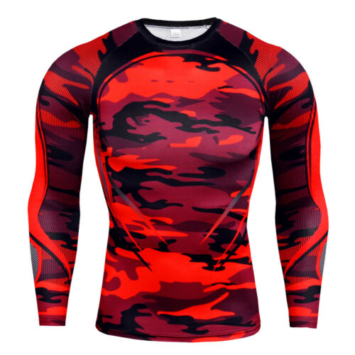 Men/'s Sports Compression T-Shirts Long Sleeve Workout Skin Baselayer Tight fit