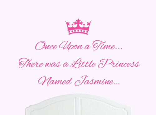 Once Upon a Time Princess Jasmine Wall Sticker Decal Bed Room Art Girl//Baby