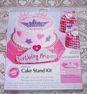 Image Is Loading Wilton Birthday Princess Cake Stand Kit With Treat