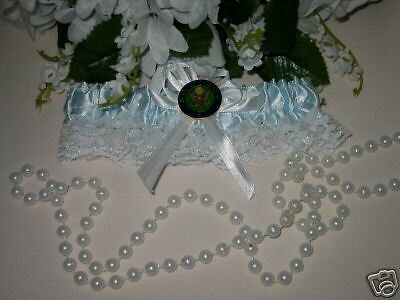 Wedding Ceremony Reception Party US Army Military Satin /& Lace Garter