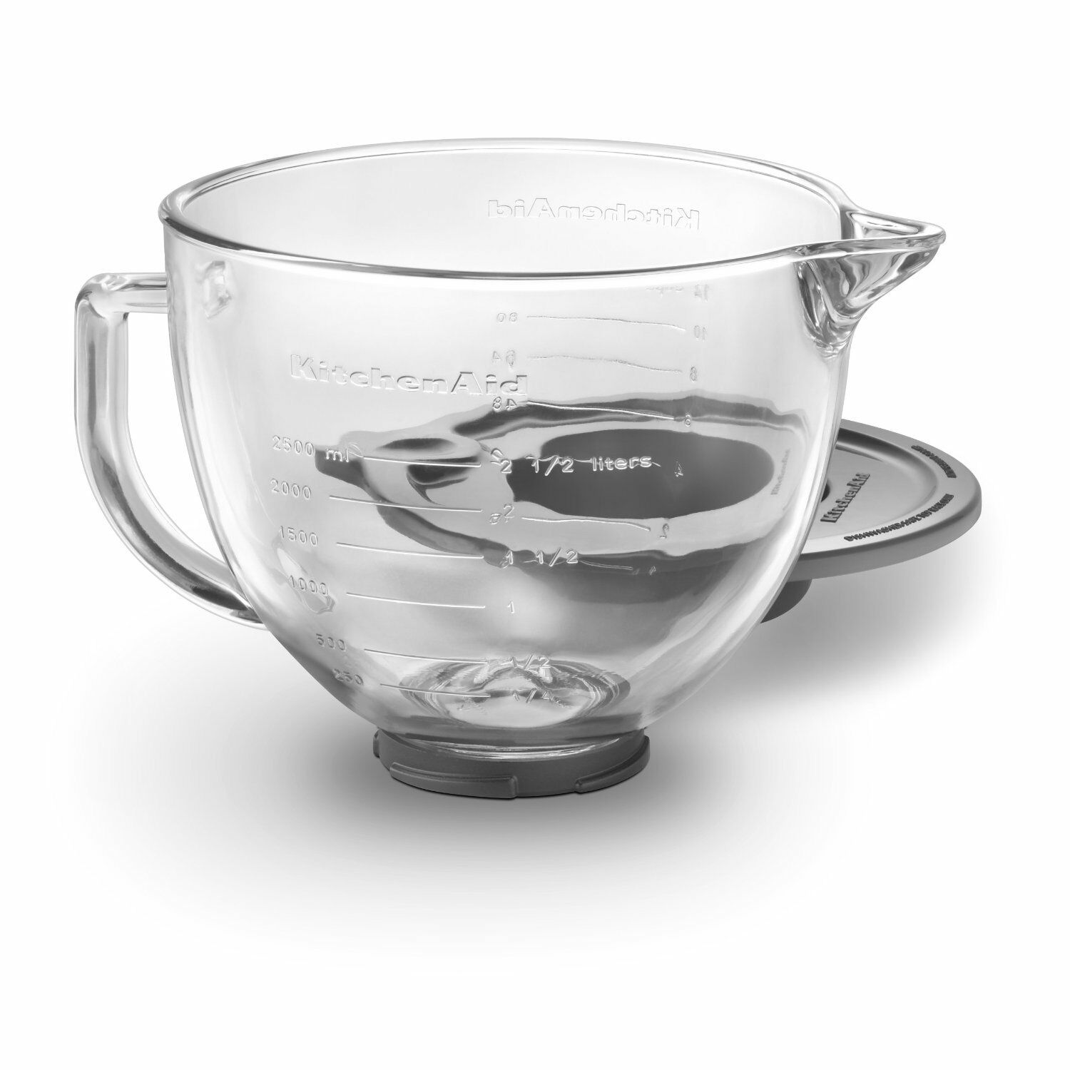 New KitchenAid 5-Quart Glass Bowl With Lid K5GB Fits Tilt Artisan Models