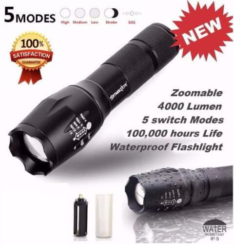 Military Flashlight 18650 sky wolf eye mount Grade Tactical 8000LM LED zoom