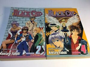 Black-Cat-Manga-Vol-1-And-2-Shonen-Jump-Manga-Kentaro-Yabuki-English
