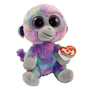 Ty 9 Medium Zuri Colorful Monkey Beanie Boos Plush Stuffed Animal