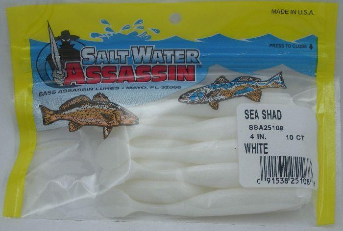 "in 4/"" OPENING NIGHT Bass Assassin Walleye Assassin Turbo Sea Shad"