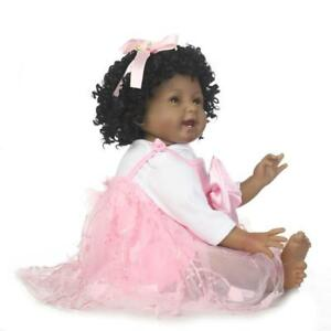 Reborn-Newborn-22-034-African-American-Ethnic-Biracial-Baby-Girl-Doll-Black-Hair