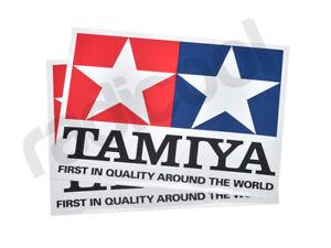 66747-nuevo-Tamiya-Mercaderia-Oficial-claro-cubierto-con-Logotipo-Adhesivo-Calcomania-15x20cm