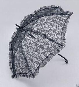 Symbole De La Marque Noir Parasol Dentelle Steampunk Victorien Parapluie Umberella Vif Et Grand Dans Le Style