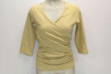 Sundance Women's Size XS 3/4-Sleeve V-Neck Jersey Tee