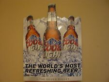 "Coors Light CoorsLight beer The Silver Bullet metal tin bar sign -18"" W x 24"" T"