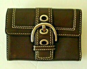 Coach-Authentic-Vintage-Brown-Leather-Wallet
