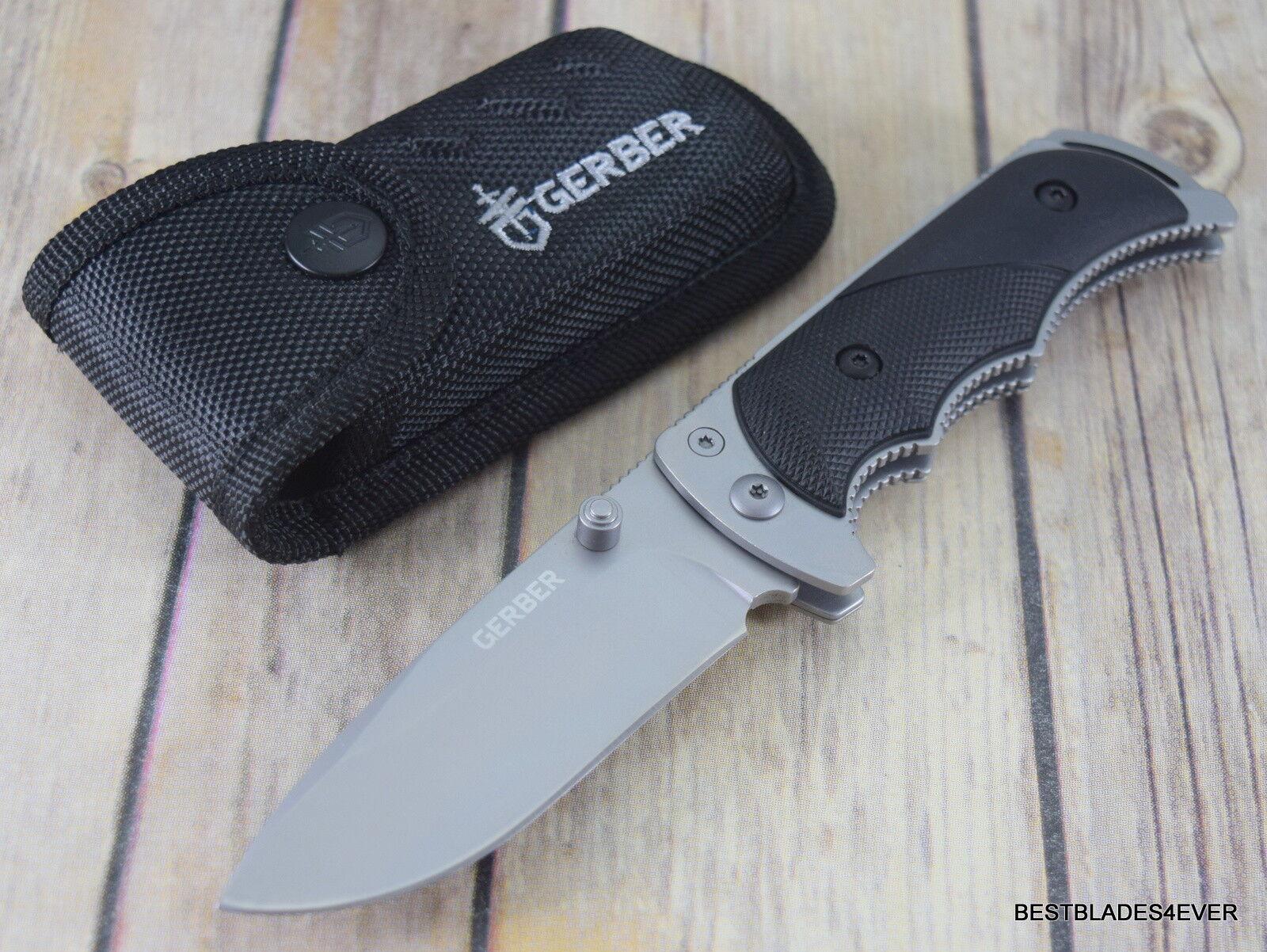 8.1 INCH GERBER FREEMAN GUIDE FOLDING POCKET KNIFE WITH NYLON SHEATH