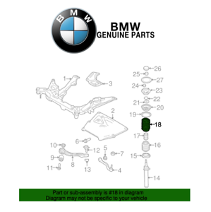 For BMW E60 550i 528i 535xi Front Left or Right Coil Spring Genuine 31336768104
