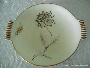 Antique German SORAU carstens Reichenbach 1918-1948 HP Handl Porceln Floral Bowl-afficher le titre d`origine 8SxZimCZ-09165515-899448710