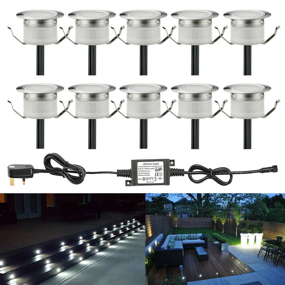 10 X 31mm LED blancoo frío jardín terraza cubierta de cocina luces de zócalo Kit de Iluminación