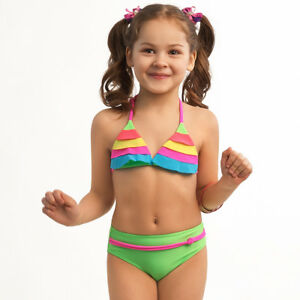 ESLI Bademode Kinder Bikini Set für Mädchen 110-116, 122-128, 134-140