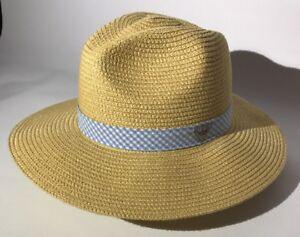 Image is loading Columbia-PFG-Bonehead-Straw-Sun-Hat-Natural-Blue- b07dc639c85a
