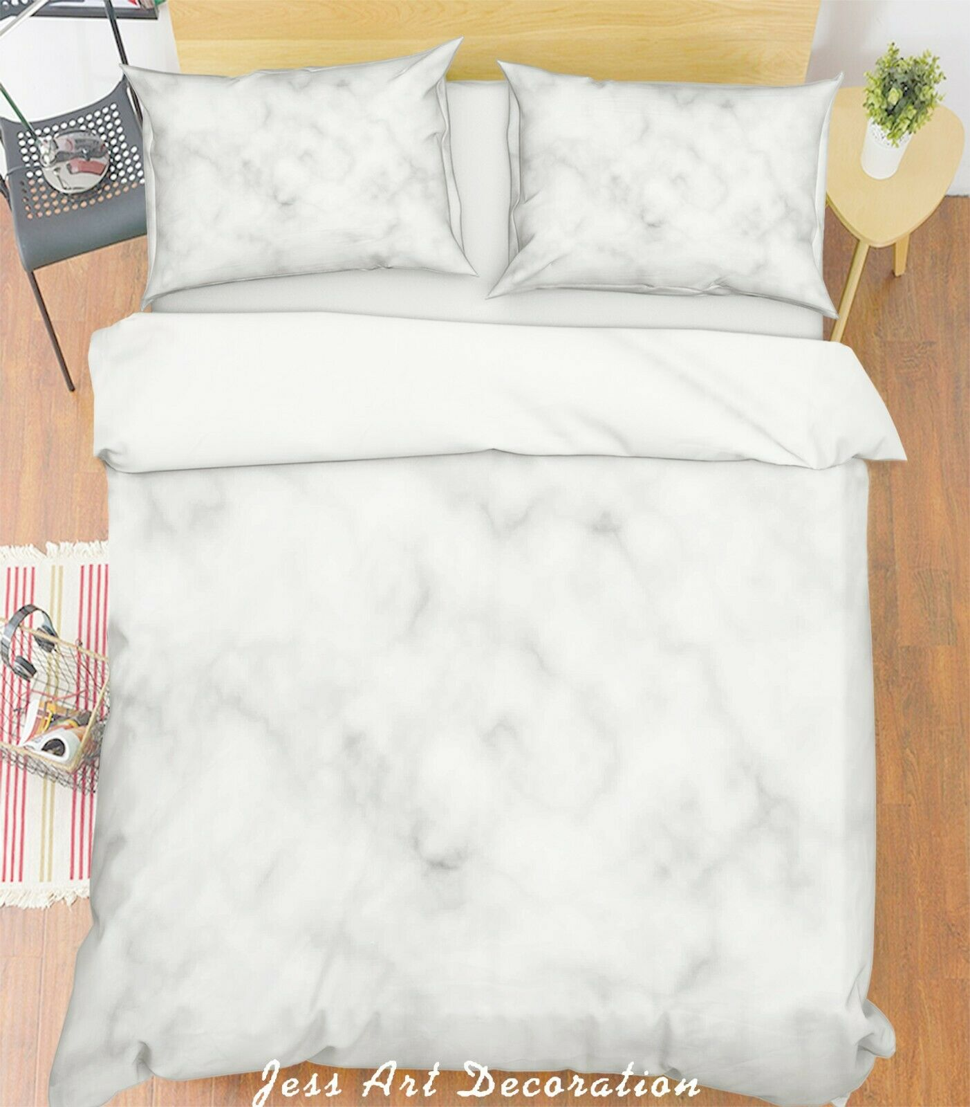 3D Weiß Marble Quilt Cover Duvet Cover Comforter Cover Single Queen King 3pcs 9