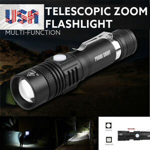 T6 XM L  10000Lumens Zoomable Tactical military LED 18650 Torch UK SELLER