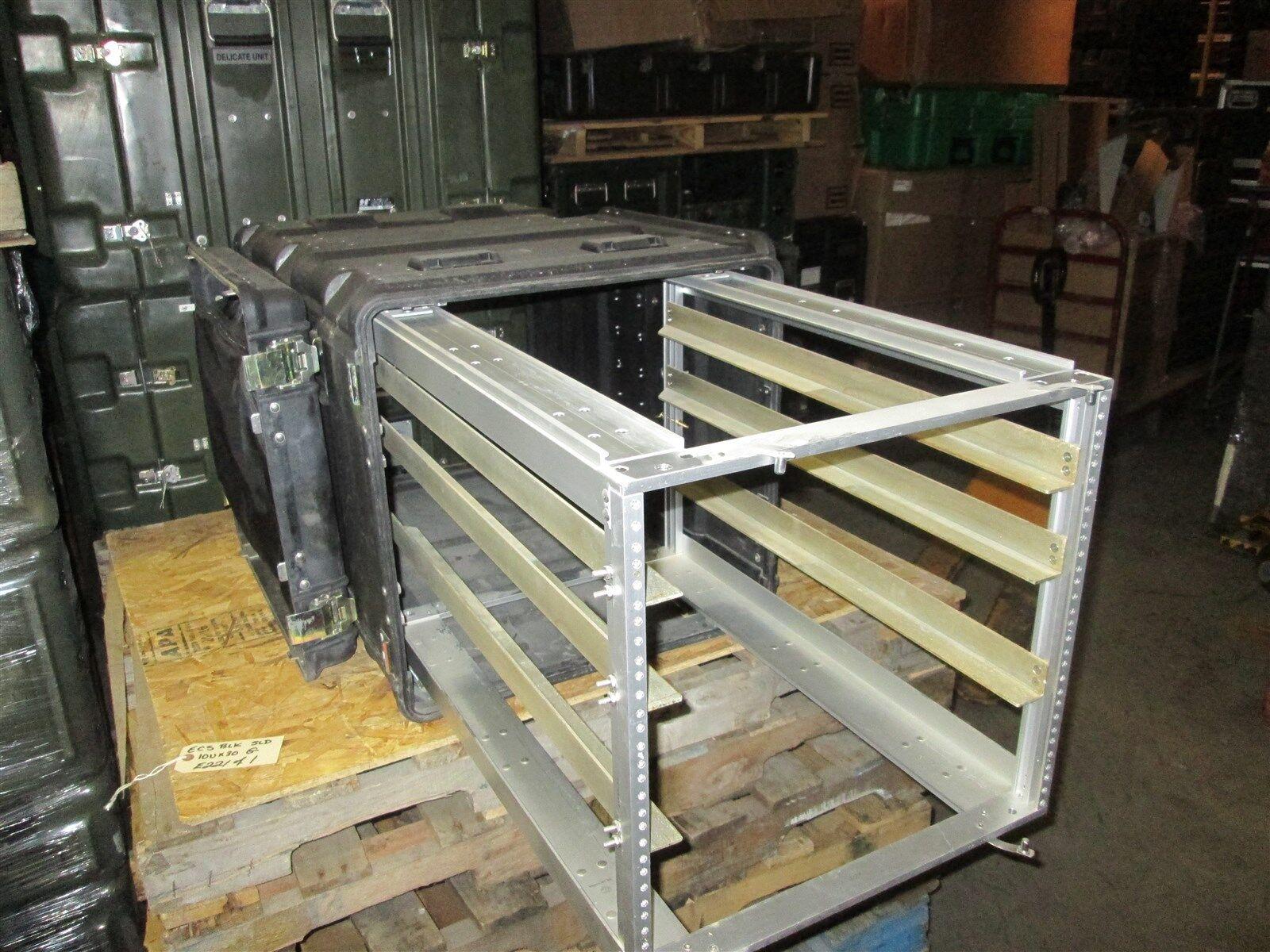 Rackmount 10U x30 Slide Out ECS Legacy Composite Shock Mount Shockmount Case Blk