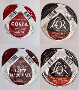 Tassimo-Costa-L-039-OR-Latte-COFFEE-DISCS-Pods-Only-8-16-24-32-40-NO-Milk-Creamer