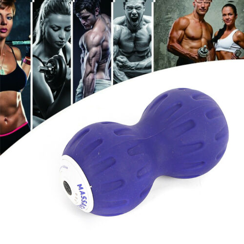 Electric Vibrate Peanut Massage Ball Trigger Point Yoga Therapy Myofascial Tool