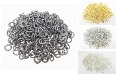 Choose Finish Pieces Made in USA Jump Rings .140 x .040 300