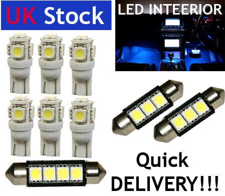 INTERIOR LED Lights Bulbs KIT BLUE fit VW PASSAT B6 2005-2010