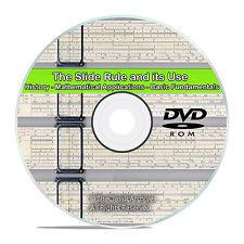 Slide Rule Machinist Arithmetic Mathematics Workshop Drawings Guides CD DVD V71