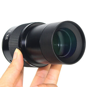 """Fully coated 2x Barlow Lens for Astronomic Telescope w/2""""inch to 1.25"""" Adapter Y"""