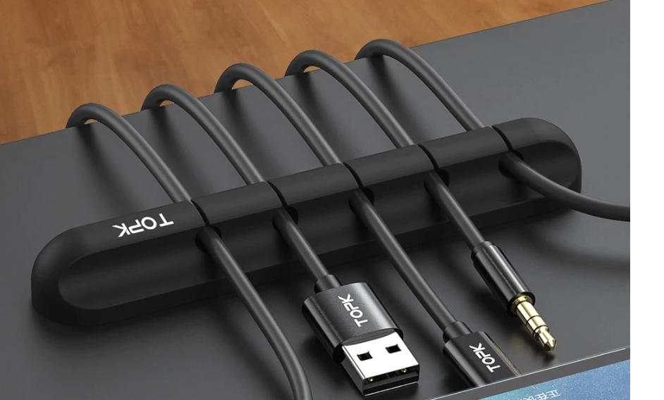 Cable Organiser Silicone, Desk Management - Topk