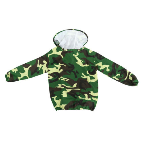 Beekeeping Jacket Veil Smock Protective Pull Over Sleeve Suit Camouflage