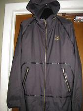New Men's Puma X Stampd LW long woven Black Grey Gold Large FZ Mesh Jacket $165