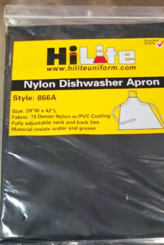 """Black Water and Grease Resistant  29/"""" X 42/"""" Long Dishwasher Nylon APRON"""