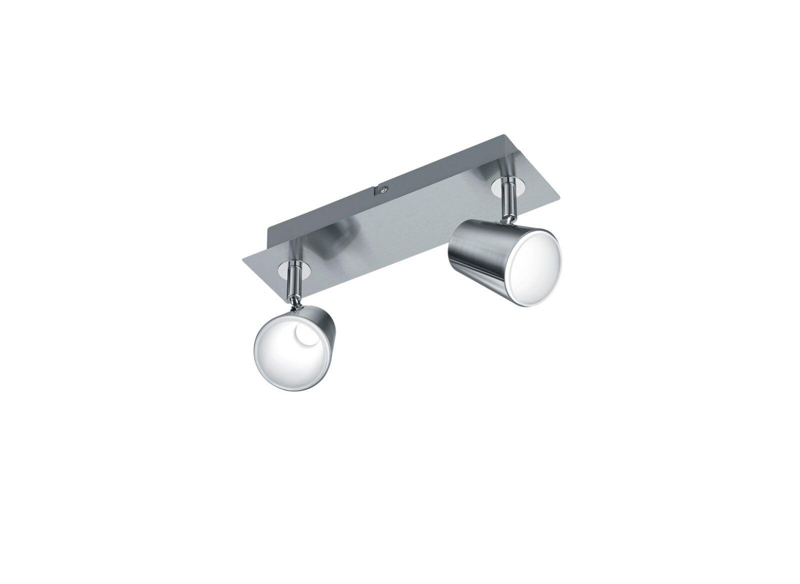Applique spot a led 12w moderno nickel orientabile coll. trio 873170207 Narcos