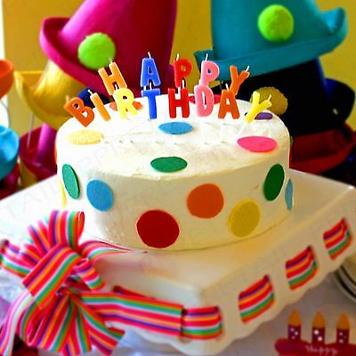Stupendous 13Pc Happy Birthday Cake Candle Set Coloured Letters Decoration Funny Birthday Cards Online Elaedamsfinfo