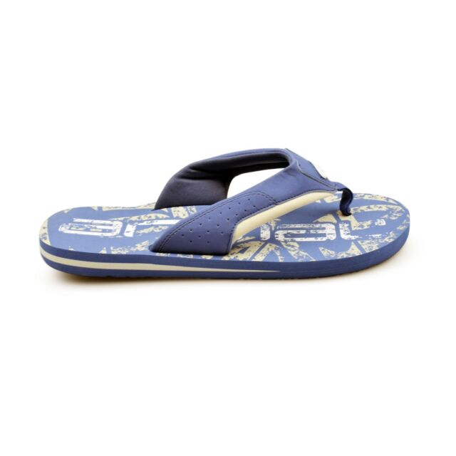 MENS ANIMAL JEKYL LOGO LAKEWOOD BLUE FLIP FLOPS BEACH TOE POST SANDALS FM8SN002