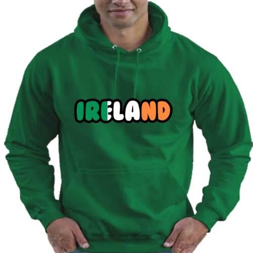 Ireland Rugby Flag Love Childrens Childs Kids Boys Girls Hoodie Hooded Top