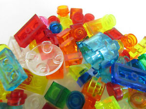 100-Lego-Small-Translucent-Pieces-Tiny-Caps-Cones-Cylinders-Bricks