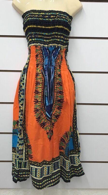 Dashiki Africano Estampado Falda Vestido Sin Tirantes Y Ropa Mujer Vestido De Ankara