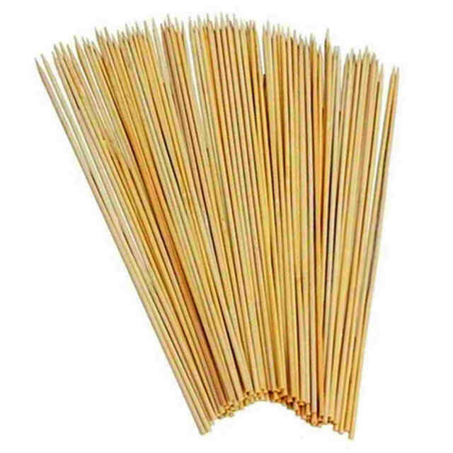 300 X 30cm 4MM Wooden Bamboo BBQ Skewers Extra Thick