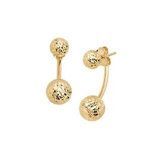 Eternity Gold Front-Back Peekaboo Ball Earrings in 14K Gold
